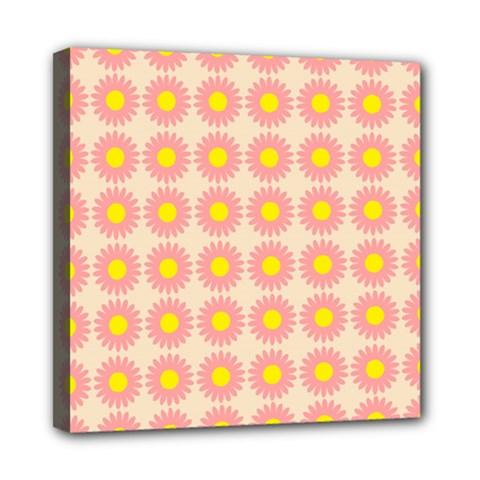 Pattern Flower Background Wallpaper Mini Canvas 8  X 8  by Nexatart