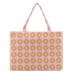 Pattern Flower Background Wallpaper Medium Tote Bag by Nexatart