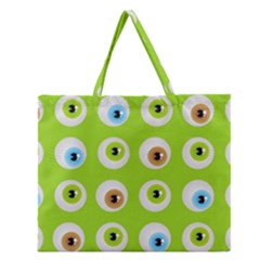 Eyes Background Structure Endless Zipper Large Tote Bag by Nexatart