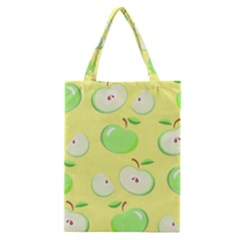 Apples Apple Pattern Vector Green Classic Tote Bag by Nexatart