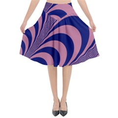 Fractals Vector Background Flared Midi Skirt by Nexatart