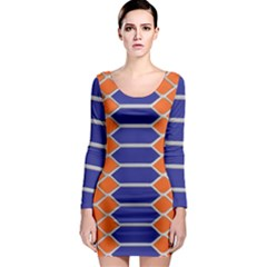 Pattern Design Modern Backdrop Long Sleeve Bodycon Dress