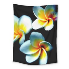 Flowers Black White Bunch Floral Medium Tapestry by Nexatart
