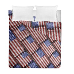 Usa Flag Grunge Pattern Duvet Cover Double Side (full/ Double Size) by dflcprints