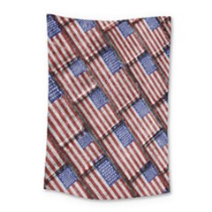 Usa Flag Grunge Pattern Small Tapestry by dflcprints