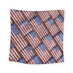 Usa Flag Grunge Pattern Square Tapestry (small) by dflcprints