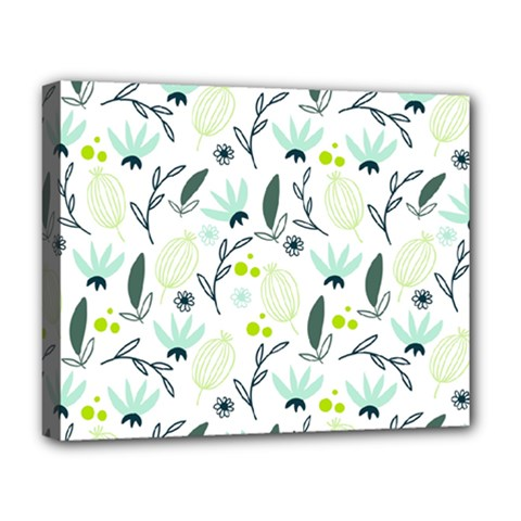 Hand Drawm Seamless Floral Pattern Deluxe Canvas 20  X 16   by TastefulDesigns