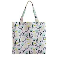 Hand Drawm Seamless Floral Pattern Grocery Tote Bag by TastefulDesigns
