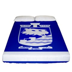 Flag Of Holon  Fitted Sheet (king Size) by abbeyz71