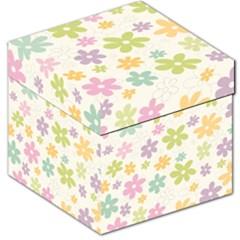 Beautiful Spring Flowers Background Storage Stool 12   by TastefulDesigns