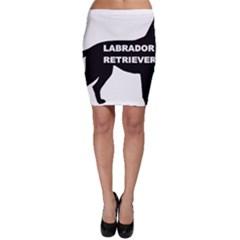 Labrador Retriever Black Name Color Silo Bodycon Skirt by TailWags