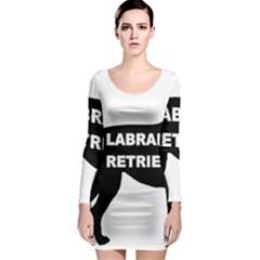 Labrador Retriever Black Name Color Silo Long Sleeve Bodycon Dress by TailWags