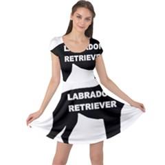 Labrador Retriever Black Name Color Silo Cap Sleeve Dresses by TailWags