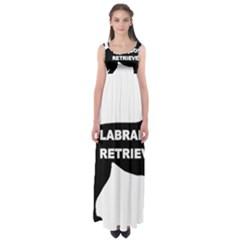 Labrador Retriever Black Name Color Silo Empire Waist Maxi Dress by TailWags