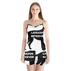 Labrador Retriever Black Name Color Silo Satin Pajamas Set by TailWags