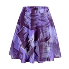 Purple Paint Strokes High Waist Skirt by KirstenStar