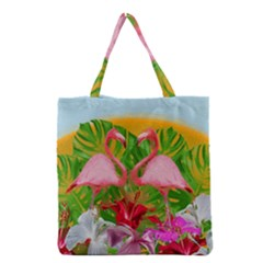 Flamingo Grocery Tote Bag by Valentinaart