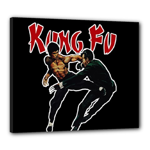 Kung Fu  Canvas 24  X 20  by Valentinaart