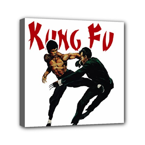 Kung Fu  Mini Canvas 6  X 6  by Valentinaart