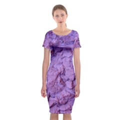 Purple Wall Background Classic Short Sleeve Midi Dress by Costasonlineshop