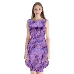 Purple Wall Background Sleeveless Chiffon Dress   by Costasonlineshop