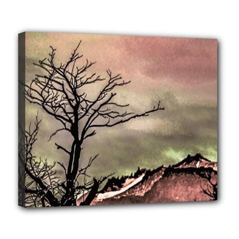 Fantasy Landscape Illustration Deluxe Canvas 24  X 20   by dflcprints