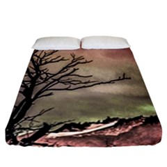 Fantasy Landscape Illustration Fitted Sheet (california King Size) by dflcprints