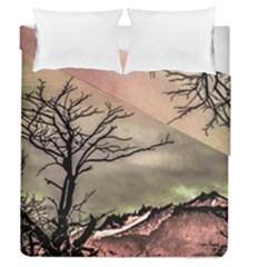 Fantasy Landscape Illustration Duvet Cover Double Side (queen Size) by dflcprints