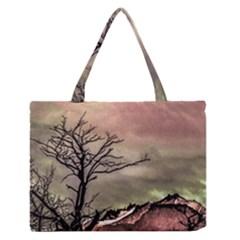 Fantasy Landscape Illustration Medium Zipper Tote Bag by dflcprints