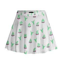 Cactus Pattern Mini Flare Skirt by ValentinaDesign