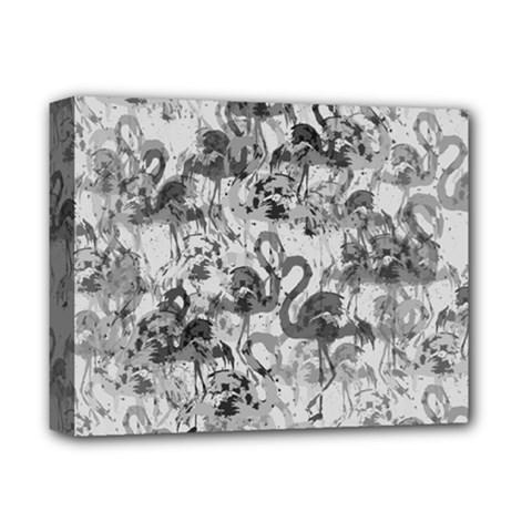 Flamingo Pattern Deluxe Canvas 14  X 11  by ValentinaDesign