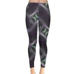 Closeup Purple Line Leggings  by Mariart