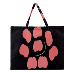 Craft Pink Black Polka Spot Zipper Large Tote Bag by Mariart