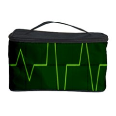 Heart Rate Green Line Light Healty Cosmetic Storage Case by Mariart