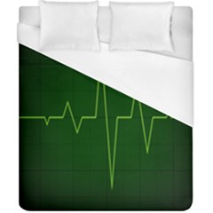 Heart Rate Green Line Light Healty Duvet Cover (California King Size)