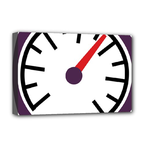 Maker Measurer Hours Time Speedometer Deluxe Canvas 18  X 12   by Mariart
