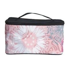 Scrapbook Paper Iridoby Flower Floral Sunflower Rose Cosmetic Storage Case by Mariart