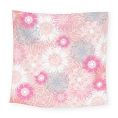 Scrapbook Paper Iridoby Flower Floral Sunflower Rose Square Tapestry (large) by Mariart