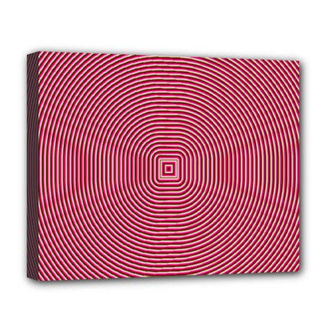 Stop Already Hipnotic Red Circle Deluxe Canvas 20  X 16   by Mariart