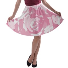 Abstract Art A Line Skater Skirt by ValentinaDesign