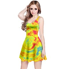 Abstract art Reversible Sleeveless Dress