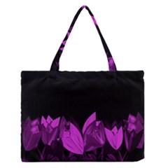 Tulips Medium Zipper Tote Bag by ValentinaDesign