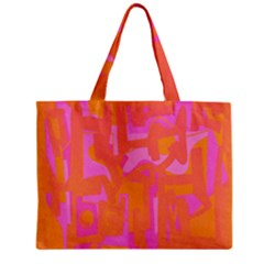 Abstract Art Zipper Mini Tote Bag by ValentinaDesign