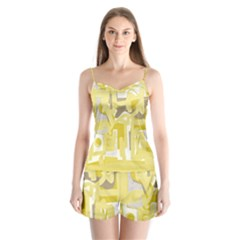 Abstract Art Satin Pajamas Set
