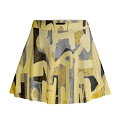Abstract Art Mini Flare Skirt by ValentinaDesign