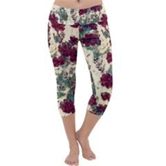 Floral Dreams 10 Capri Yoga Leggings by MoreColorsinLife