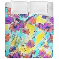 Floral Dreams 12 Duvet Cover Double Side (california King Size) by MoreColorsinLife