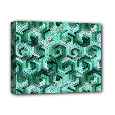 Pattern Factory 23 Teal Deluxe Canvas 14  X 11  by MoreColorsinLife