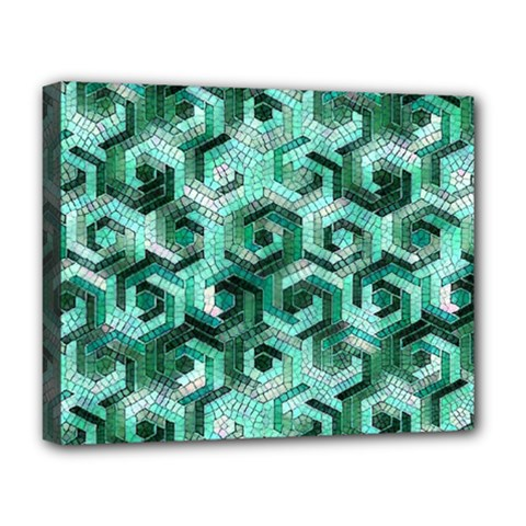 Pattern Factory 23 Teal Deluxe Canvas 20  X 16   by MoreColorsinLife
