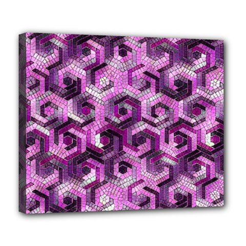 Pattern Factory 23 Pink Deluxe Canvas 24  X 20   by MoreColorsinLife